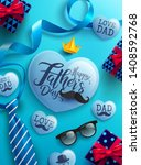 father's day promotion poster... | Shutterstock .eps vector #1408592768