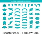 vintage ribbons banners... | Shutterstock .eps vector #1408594208