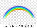 realistic rainbow. abstract... | Shutterstock .eps vector #1408605308