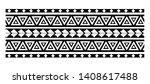 maori seamless bracelets... | Shutterstock .eps vector #1408617488