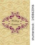 elegant frame for wedding on...   Shutterstock .eps vector #140862046