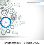 infographic design template... | Shutterstock . vector #140862922