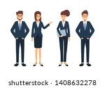 group of business people...   Shutterstock .eps vector #1408632278
