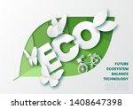 future ecosystem concept car...   Shutterstock .eps vector #1408647398