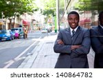 outdoor portrait of an african... | Shutterstock . vector #140864782
