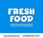 vector trendy banner fresh food ... | Shutterstock .eps vector #1408649192