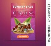 summer sale  vertical discount... | Shutterstock .eps vector #1408654535