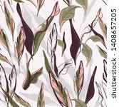 floral palm leaves pattern.... | Shutterstock .eps vector #1408657205