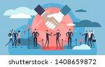 diplomacy vector illustration.... | Shutterstock .eps vector #1408659872