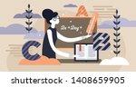 school teacher occupation... | Shutterstock .eps vector #1408659905