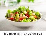 Fresh Summer Salad With Shrimp  ...