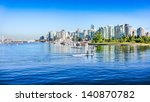 Stock photo vancouver skyline with harbor british columbia canada 140870782
