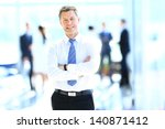 Smiling Businessman In His...