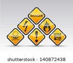 Isolated Vector Orange Danger...