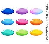 set of nine colorful ellipse ...
