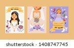 bride vector bridesmaid woman...   Shutterstock .eps vector #1408747745