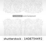 high tech technology background ... | Shutterstock .eps vector #1408754492