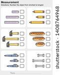 measurement worksheet   number... | Shutterstock .eps vector #1408764968