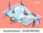 isometric flat vector concept... | Shutterstock .eps vector #1408780982