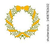 isolated colored laurel wreath...   Shutterstock .eps vector #1408782632