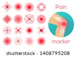 red circles set  pain place... | Shutterstock .eps vector #1408795208