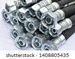 Hydraulic industrial hoses on a ...