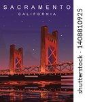 Sacramento Modern Vector Poster....