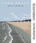 Long Beach Modern Vector Poster....