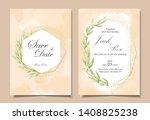 vintage wedding invitation...   Shutterstock .eps vector #1408825238