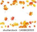 maple leaves vector background  ... | Shutterstock .eps vector #1408828505