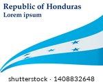 flag of honduras  republic of... | Shutterstock .eps vector #1408832648