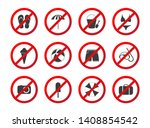 set of travel prohibition icons ... | Shutterstock . vector #1408854542