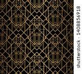 art deco pattern. seamless... | Shutterstock .eps vector #1408856918