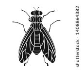 bitmap design of insect and fly ... | Shutterstock . vector #1408864382