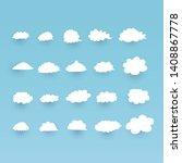 premium set of cloud icon... | Shutterstock .eps vector #1408867778