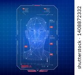 face recognition abstract tech...