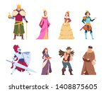 Medieval Characters. Flat...