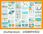 infographic teamwork vector... | Shutterstock .eps vector #1408894502