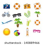 vacations icons over white... | Shutterstock .eps vector #140889466