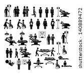 medical silhouettes over white... | Shutterstock .eps vector #140889472