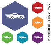 sport car icons vector colorful ...