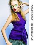 beautiful dancing female....   Shutterstock . vector #140893402