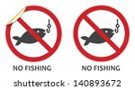 No Fishing Signs In Two Vector...