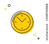 round clock thin line icon on... | Shutterstock .eps vector #1408940888