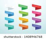 ribbon labels 3d set of 12... | Shutterstock .eps vector #1408946768