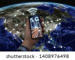connected cities to 5g... | Shutterstock . vector #1408976498