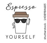 Vector Illustration Of A Coffe...