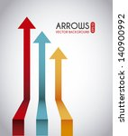 arrows infographics over gray... | Shutterstock .eps vector #140900992