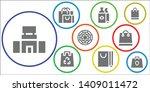 shopper icon set. 9 filled... | Shutterstock .eps vector #1409011472