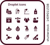 droplet icon set. 16 filled... | Shutterstock .eps vector #1409011538